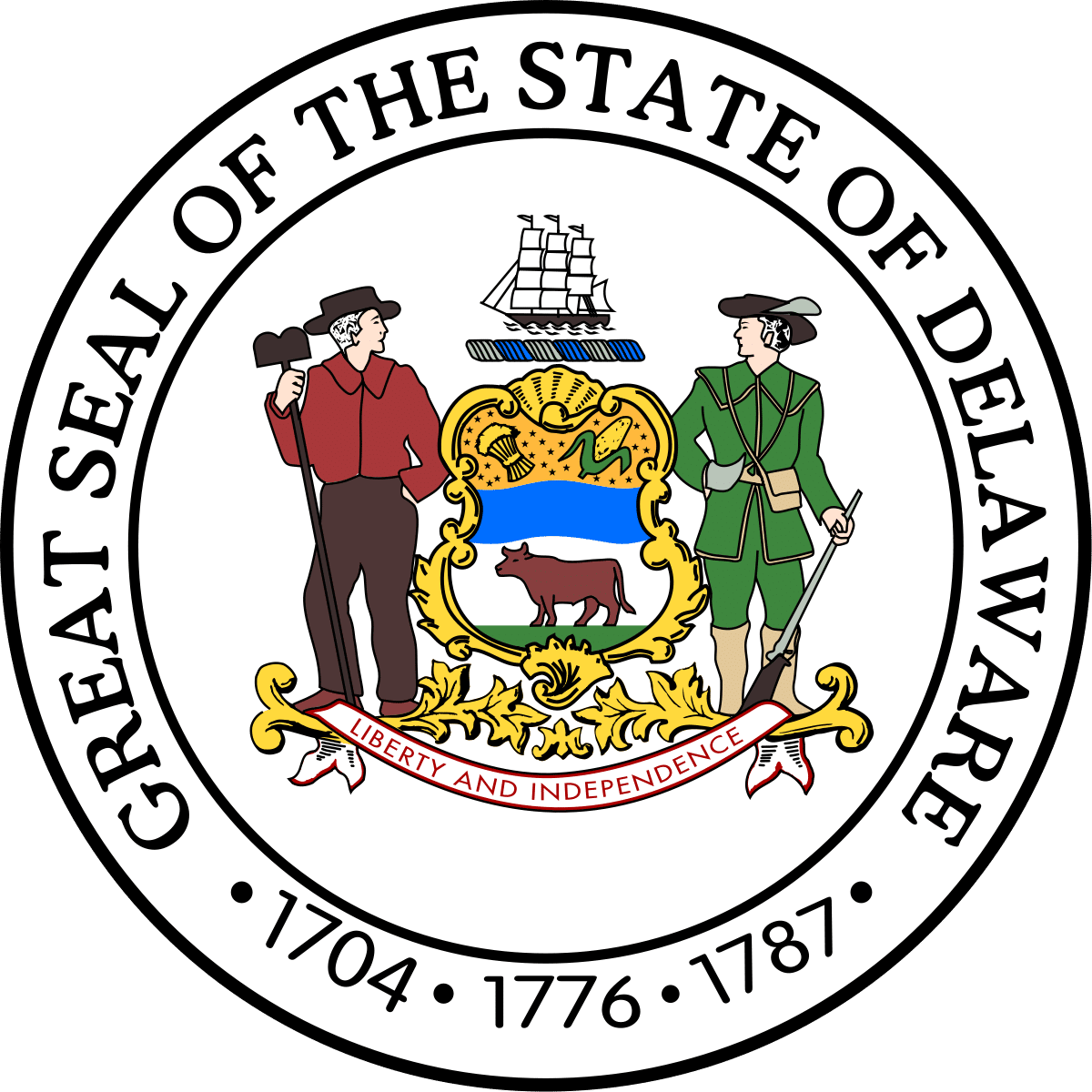 great seal of state of delaware