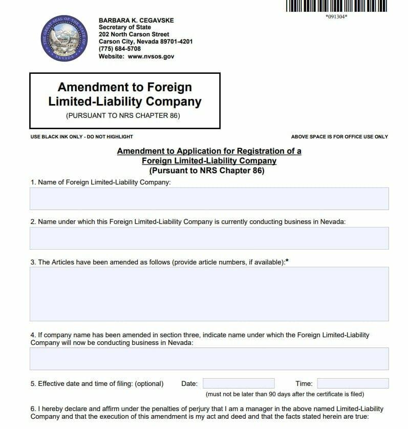 foreign llc